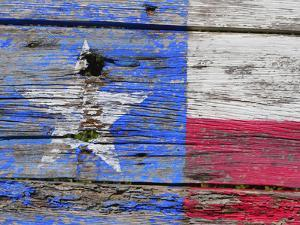 Texas flag painted on old wood by Sylvia Gulin