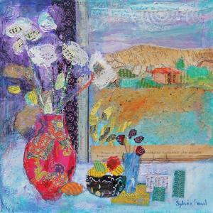 Flowers in the Window 2014 by Sylvia Paul