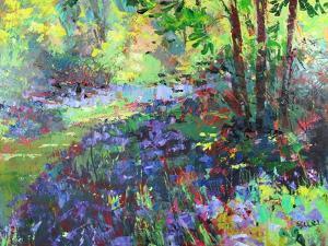 Path Through the Bluebells by Sylvia Paul