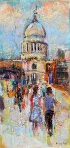 St Paul's from the Millennium Bridge by Sylvia Paul