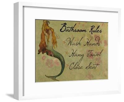 Bathroom Rules Vintage Mermaid