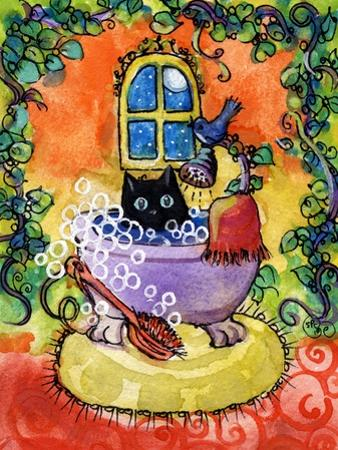 Black Cat Bath by sylvia pimental