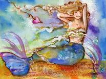 Pirate holding Mermaid-sylvia pimental-Mounted Art Print