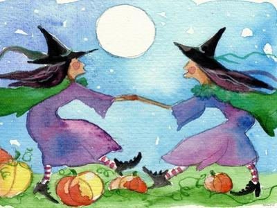 Dancing Witches Halloween Moon