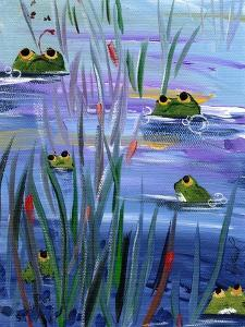 Frogs in the Pond by sylvia pimental