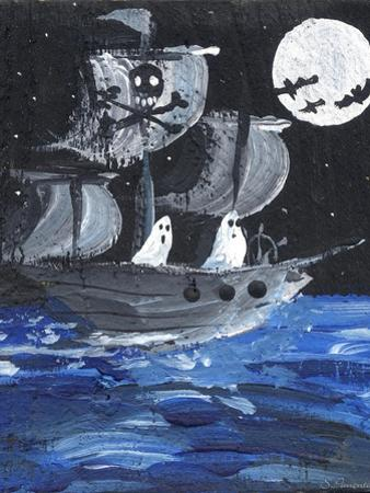 Ghost Ship Skull & Cross Bones Halloween