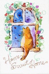 Home Sweet Home Cat in Window by sylvia pimental