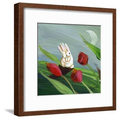 Little Bunny Rabbits in the Tulips