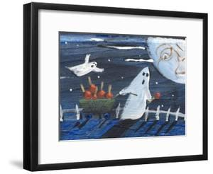 Moon Face Ghosts on Halloween by sylvia pimental