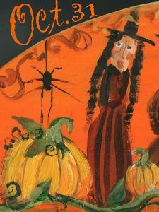 Oct. 31st Halloween Witch & Spider by Sylvia Pimental