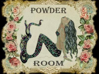 Powder Room Mermaid by sylvia pimental