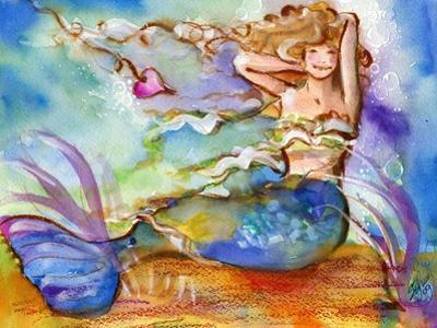 Pretty Blue Mermaid by sylvia pimental