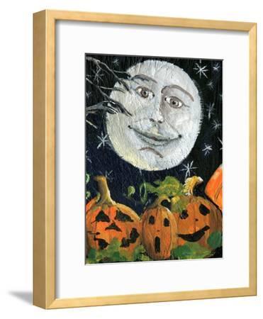 Pumpkin Patch Halloween Full Moon Face