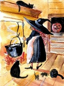 Saturday Night Supper Witch by Sylvia Pimental