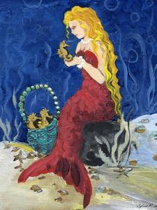 Seahorse Collector Mermaid by sylvia pimental