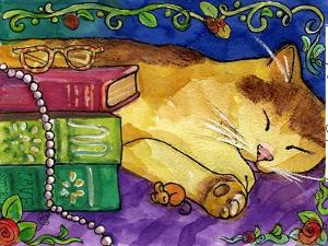 Sleeping Tabby Cat by sylvia pimental