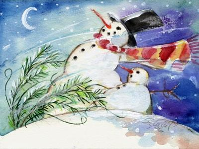 Snowmen in the Snow by sylvia pimental