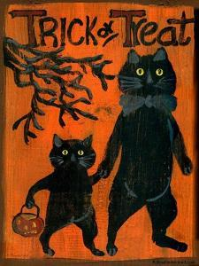Trick or Treat Black Cats by Sylvia Pimental