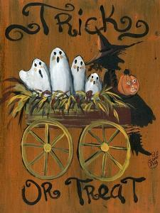 Trick or Treat Ghost Wagon Ride by Sylvia Pimental