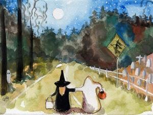 Trick or Treat Halloween Witch & Ghosts by sylvia pimental