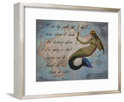 Vintage Mermaid I See my Path Quote