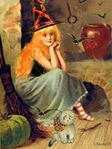 Vintage Witch Halloween by sylvia pimental