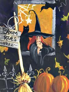 Waiting for Halloween Broom Rides Free by sylvia pimental