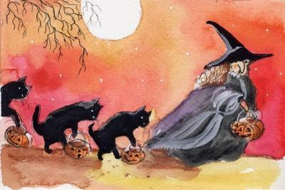Witch and Black Cats Halloween