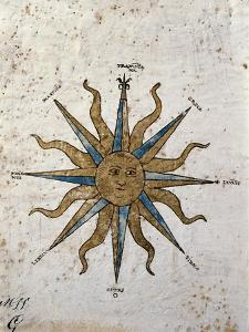 Symbol of the Sun with Inlaid Rose Compass, from the Nautical Maps Atlas