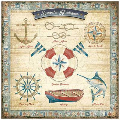 Symboles nautiques-Bruno Pozzo-Art Print