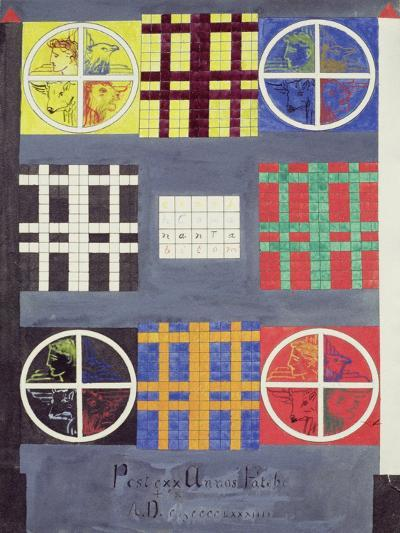 Symbolic Designs on the Door of the Vault of the Adepts, C.1894--Giclee Print