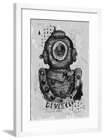 Symbolic Image of an Old Wetsuit to Dive to Great Depths-Dmitriip-Framed Art Print