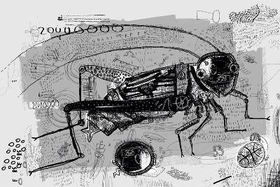 Symbolic Image of Grasshopper Which is Composed of Many Parts-Dmitriip-Art Print