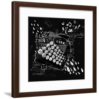 Symbolic Image of Printing on the Typewriter-Dmitriip-Framed Premium Giclee Print
