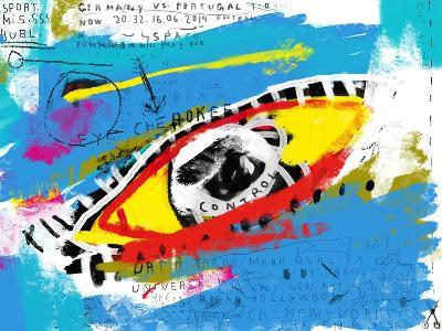 Symbolic Image of the Eye in Color-Dmitriip-Art Print