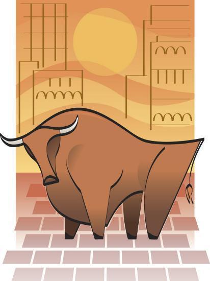 Symbolic Stock Market Bull--Photo