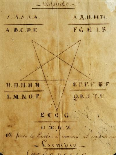 Symbols and Alphabet Used by the Carbonari Organization--Giclee Print