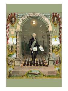 Symbols Masonic - Washington As a Master Mason