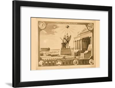 Symbols -Master Mason--Framed Art Print