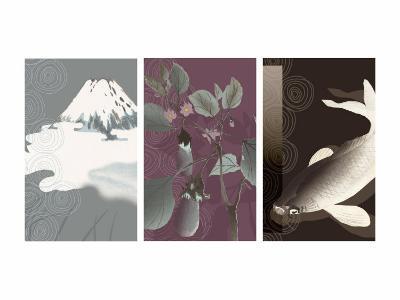 Symbols of Japan Triptych--Photo
