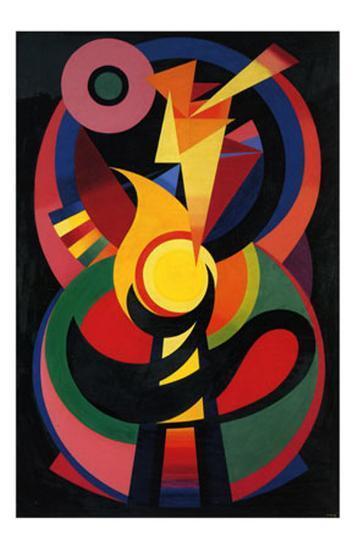 Symchromie en Noir, c.1939-Auguste Herbin-Art Print