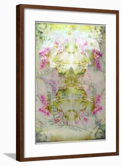 Symmetric Floral Montage from Flowers-Alaya Gadeh-Framed Photographic Print