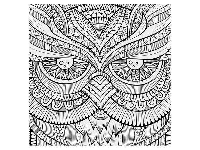 Symmetric Wing Arches Coloring Art--Coloring Poster