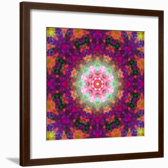Symmetrical Ornament of Flower Photographies-Alaya Gadeh-Framed Photographic Print
