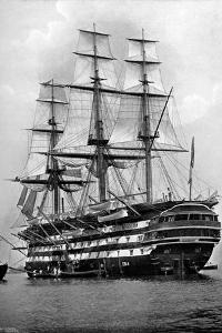The Training Ship HMS 'St Vincent' at Portsmouth, Hampshire, 1896 by Symonds & Co