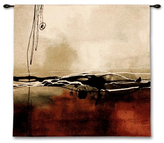 Symphony in Red and Khaki I-Laurie Maitland-Wall Tapestry