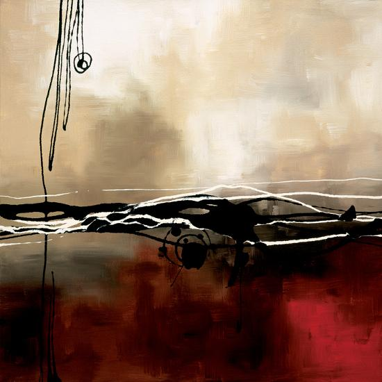 Symphony in Red and Khaki I-Laurie Maitland-Premium Giclee Print