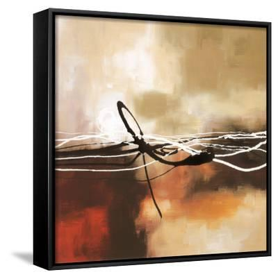 Symphony in Red and Khaki II-Laurie Maitland-Framed Canvas Print