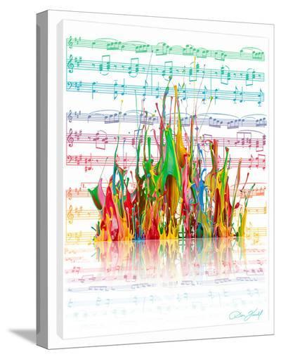 Symphony Of Colors-Don Farrall-Stretched Canvas Print
