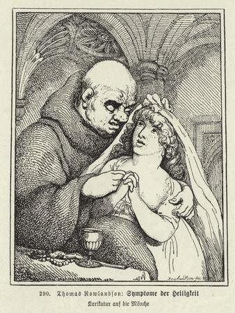 Symptoms of Sanctity-Thomas Rowlandson-Giclee Print